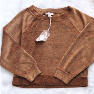 NWT BAND OF GYPSIES DARK STAR CHENILLE SWEATER S